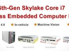 Neousys Intel 6th-Gen Skylake Core i7 Fanless Embedded Computers