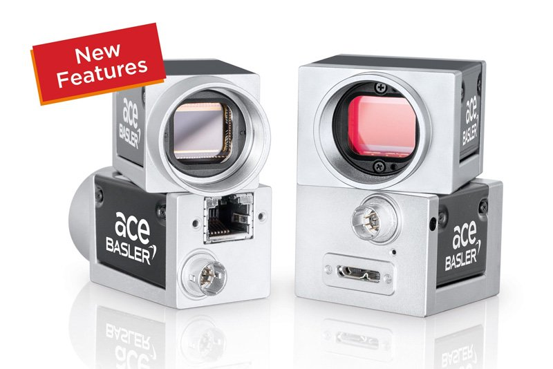 Basler ace – Now with Stacked ROI and PGI for Monochrome Cameras