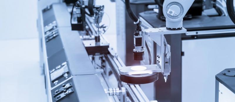 Robotic vision sensor camera system in intellegence factory